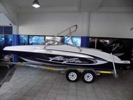 classic 230 on trailer 200 hp mercury verado supercharged