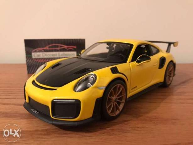 diecast porsche gt3 rs yellow