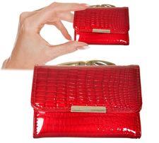 a0eef916ff7ff Bardzo mały portfel damski Skóra lakierowana marki Jennifer Jones 5287