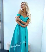 5f9a49ed18 Sukienka maxi długa turkusowa Emo Elizabeth 36 38 S M nowa wesele hit