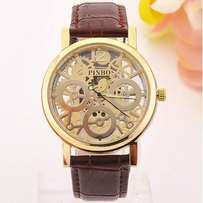 Quartz luxury leather watch