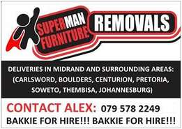 Transport/Bakkie and Logistics Services (Superman Removals)