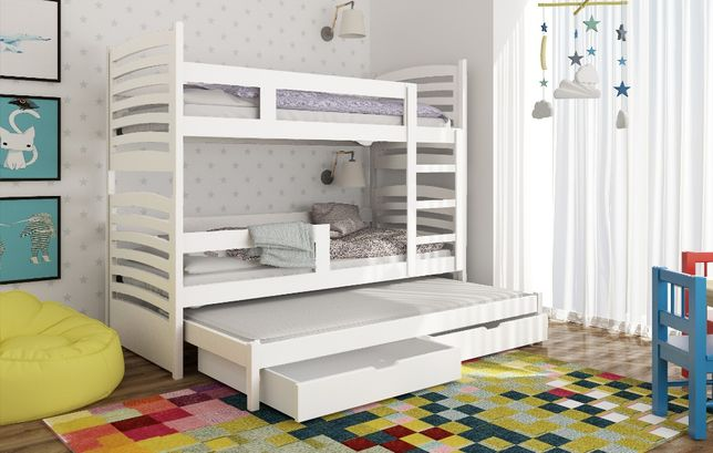 Nowoczesne łóżko Piętrowe Dla Trójki Dzieci Olek Grudziądz