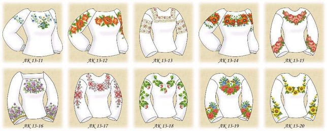 Набори заготовок для вишивки бісером жіночої сорочки (70 моделей) Львів -  зображення 3 83f6e77105981