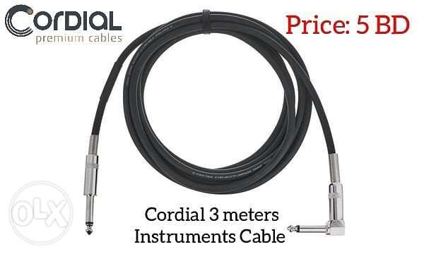 Cordial 3 meters instruments cable available in stock.