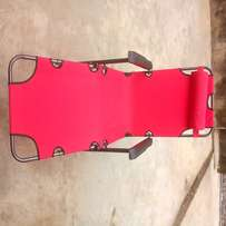H & S Folding Outdoor Pool & Beach Chair - Red