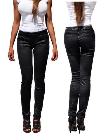 a121a4d4 Spodnie Damskie Jeans Czarne Denim RURKI Wzory Wiosna Lato #451 ...