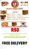 Pillay's Indian Cuisine In Roodepoort JHB