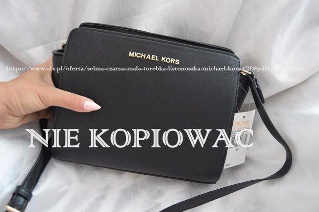 2d92107af2e08 Selma czarna mała torebka listonoszka Michael kors Człuchów - image 1