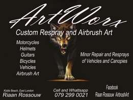 Motorcycle resprays and Airbrush Art