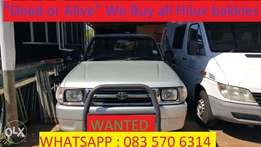 Wanted : Toyota Hilux bakkies whether running, accident damaged or Not