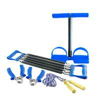 4 Way set(Tummy Trimmer,Chest Pull,Skipping rope & A pair of hand grip