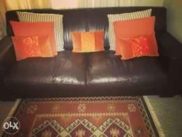 New 3 seater genuine leather couch for sale