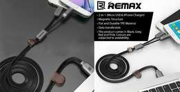 Remax Dual Heads iOS Micro USB Mobile Phone Cable Data Cable Charge Ca