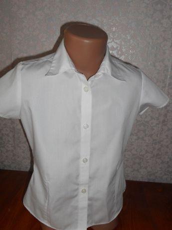 32eda7cf280 Рубашка блуза блузка классика белая школьная M S 7-8 лет р.122 Кременчуг -