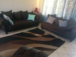 2 couches. 1x3 seater & 1x2 seater. Carpet included!
