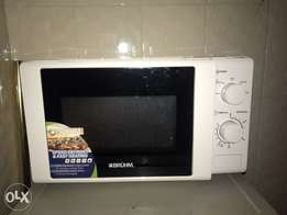 von deck for sale with a microwave and tv stand