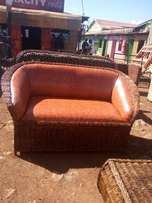 Makuti two seater brand new brown leather fabric