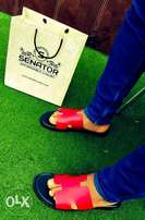 Senator's Leather Slippers (Red)