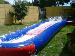 Waterslide with blower