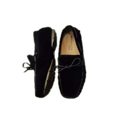 Men's Suede Lace Tie Closure Boat Shoes - Black Surulere - image 2