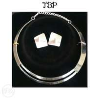 Silver custome necklace