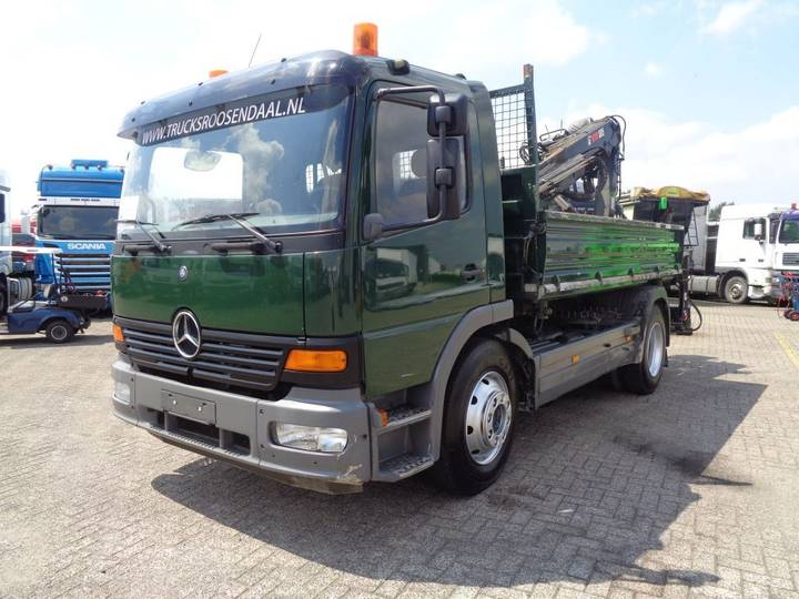 Mercedes-Benz Atego 1218 + Manual + Pto + Kipper + Crane - 2004