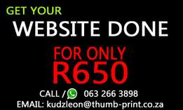 Special offer on Web design