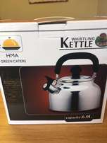6l Stainless Steel Whistling Kettle Brand New