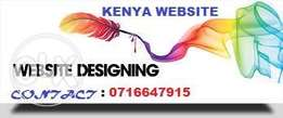 Professional web design& hosting services from ksh.5000.