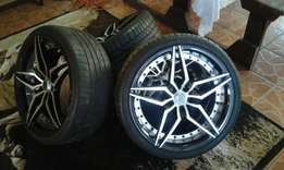 19 inch golf 7 mags with tyres