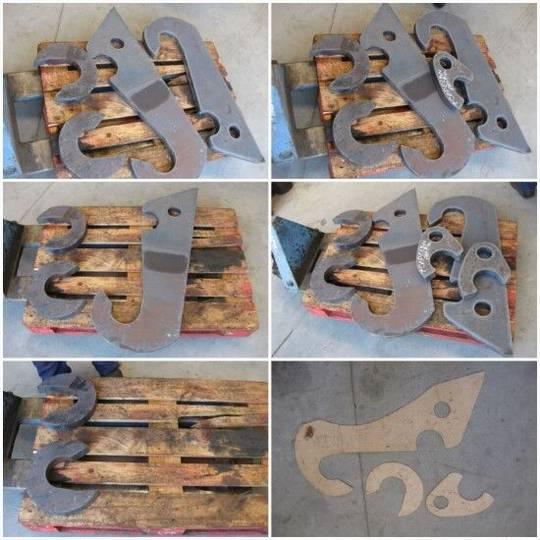 Bar fabricación de rippers tow  for excavator