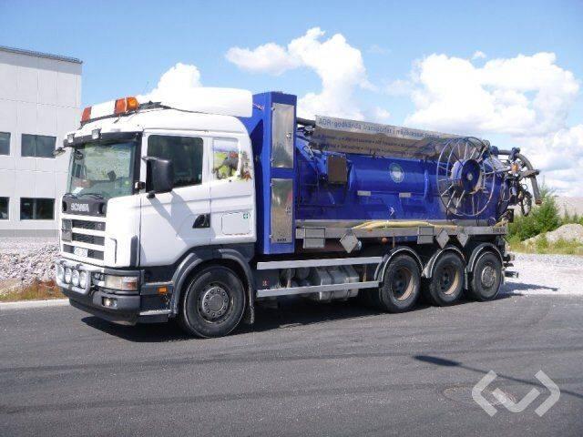 Scania R124GB 8x4*2 Slam vacuum truck - 04 - 2019