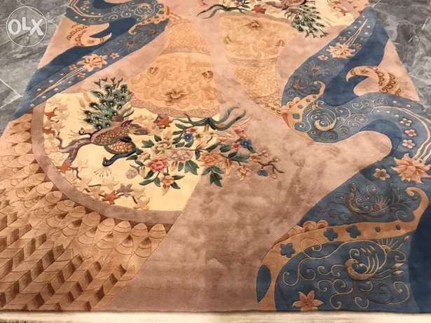 Chinese Tientsin Antique Hand knotted thick pile Rug