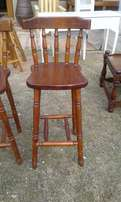 Pine Bar Chairs with Backrest