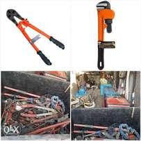 wrenches, bolt cutters, drills, grinders stock