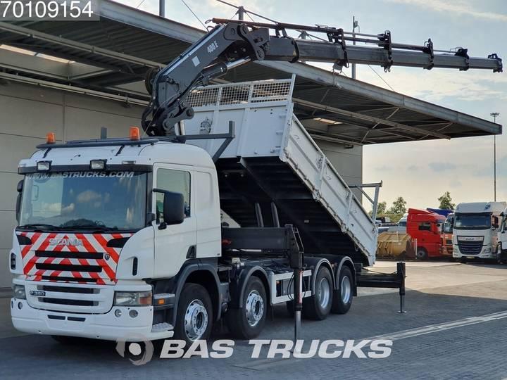 Scania P380 8X4 Crane Kran Hiab 400 E-5 - 2006