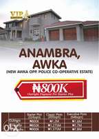 Land for sale at new awka directly opp police housing Estate, N800k