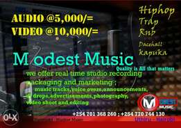 Video and Audio Recording studio