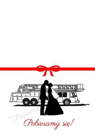 Zaproszenia ślubne Straż Pożarna Strażackie Różne Jabłonna Olxpl