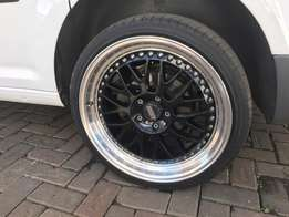"BBS rims and tyres 19"" 5 112 lcd"