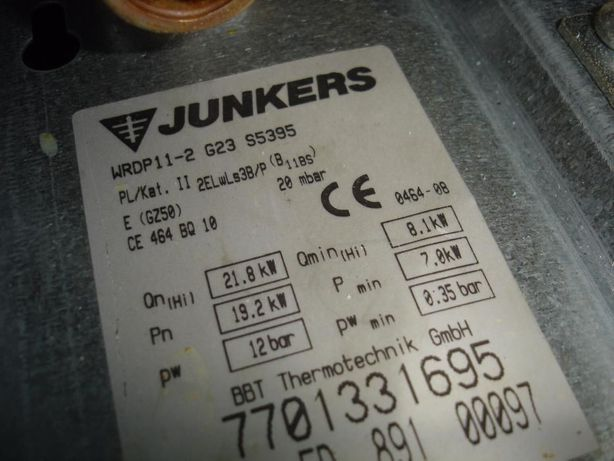 Chłodny Junkers WRP 11, WRP 14, WRDP 11-2G lub 2B Neckar - dowolne części JV78