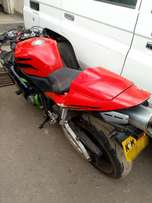 Honda motor bike with slight damage