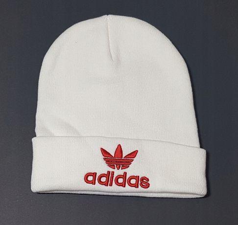 hurtownia online wspaniały wygląd najlepszy dostawca Czapka Zimowa Adidas, BIAŁA z czerwonym logo, bardzo ładna ...