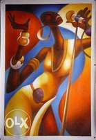 African solo music painting