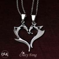 Stainless steel couple necklaces gift jewellery men, women