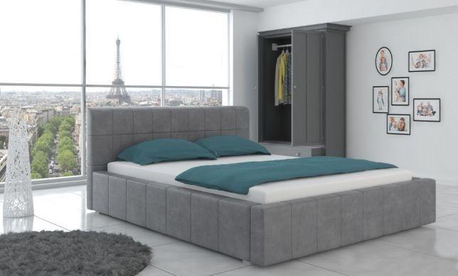 łóżko Tapicerowane Sypialniane 160 Pojemnik Stelaż Duży
