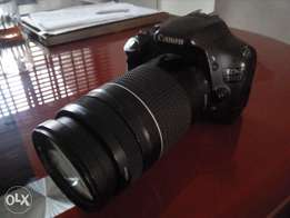 Canon eos 550D with canon 75mm-300mm zoom lens