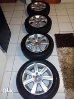 Polo 6 mag rims and tyres