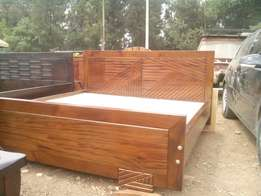 Hardwood mahogany bed